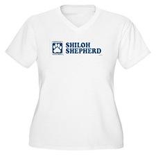 SHILOH SHEPHERD Womes Plus-Size V-Neck T-Shirt