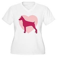 Doberman Pinscher Valentine's Day T-Shirt