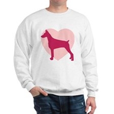 Doberman Pinscher Valentine's Day Sweatshirt