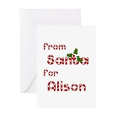 From Santa For Alison Greeting Card