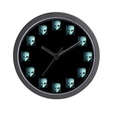 Alien Face Wall Clock