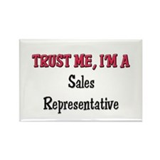 Trust Me I'm a Sales Representative Rectangle Magn
