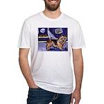 NORWICH TERRIER art Fitted T-Shirt