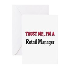 Trust Me I'm a Retail Manager Greeting Cards (Pk o