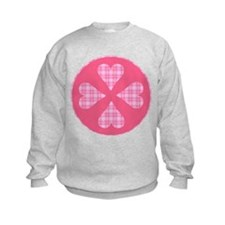 Pink Plaid Hearts Sweatshirt