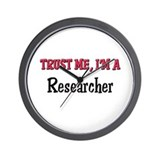 Trust Me I'm a Researcher Wall Clock