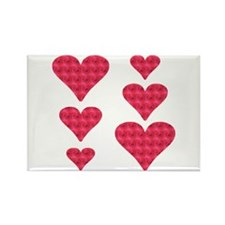 Cool Hearts Rectangle Magnet