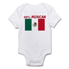 50 PERCENT MEXICAN Onesie