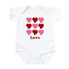 Love Hearts Infant Bodysuit