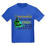 Voices in my head - snowmobile Kids Dark T-Shirt