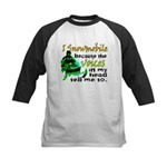 Voices in my head - snowmobile Kids Baseball Jerse