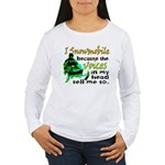 Voices in my head - snowmobile Women's Long Sleeve