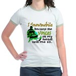 Voices in my head - snowmobile Jr. Ringer T-Shirt