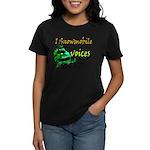 Voices in my head - snowmobile Women's Dark T-Shir