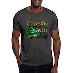 Voices in my head - snowmobile Dark T-Shirt