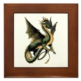 Great Dragon Framed Tile