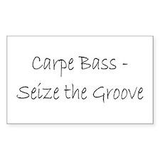 Carpe Bass Rectangle Decal