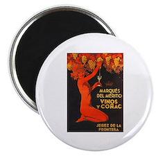 Vintage Cognac Wine Poster Magnet
