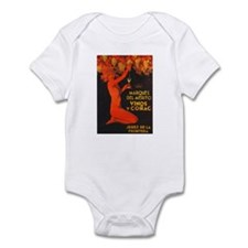 Vintage Cognac Wine Poster Infant Bodysuit