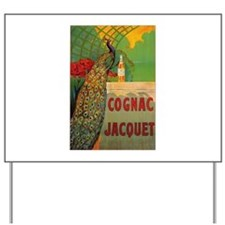 Vintage Cognac Wine Poster Yard Sign