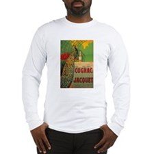 Vintage Cognac Wine Poster Long Sleeve T-Shirt