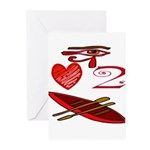 I Love To Canoe Greeting Cards (Pk of 20)