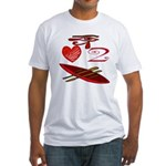 I Love To Canoe Fitted T-Shirt