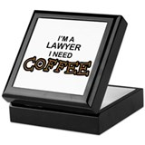 Lawyer Need Coffee Keepsake Box