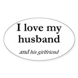 Husband/his girlfriend Oval Decal