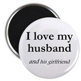 "Husband/his girlfriend 2.25"" Magnet (100 pack)"