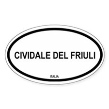 Cividale Del Fruiuli Oval Decal