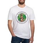 BEAR ASS SPORTS Fitted White T-Shirt