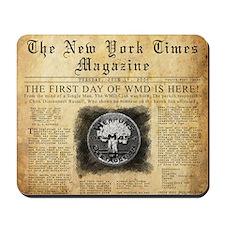WMD Newspaper Mousepad Design