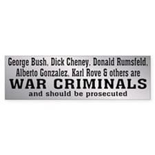 WAR CRIMINALS Bumper Bumper Sticker
