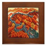 Great Wall of China Framed Tile