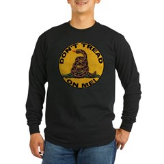 Don't Tread on Me-Circle Long Sleeve Dark T-Shirt