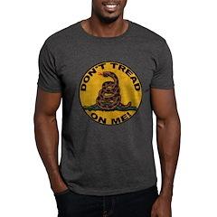Don't Tread on Me-Circle Dark T-Shirt