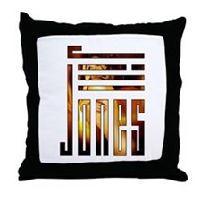 Jill Jones Logo Throw Pillow