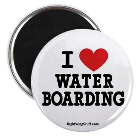 "I Love Water Boarding 2.25"" Magnet (10 pack)"