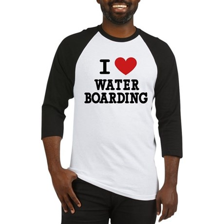 I Love Water Boarding Baseball Jersey