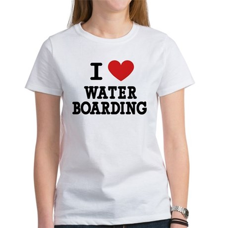 I Love Water Boarding Women's T-Shirt