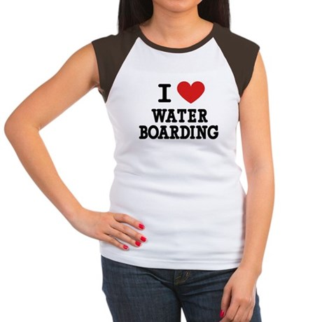 I Love Water Boarding Women's Cap Sleeve T-Shirt