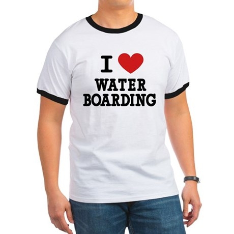 I Love Water Boarding Ringer T