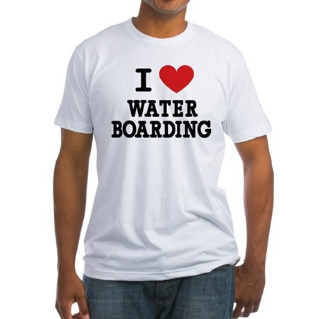 I Love Water Boarding Fitted T-Shirt