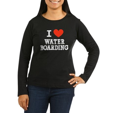 I Love Water Boarding Women's Long Sleeve Dark T-S