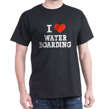 I Love Water Boarding Dark T-Shirt