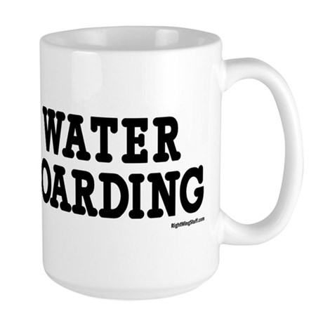 I Love Water Boarding Large Mug