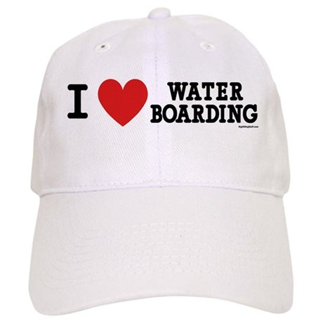 I Love Water Boarding Cap