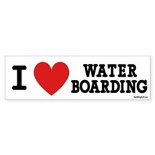 I Love Water Boarding Bumper Bumper Sticker