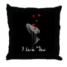 Black Lily Valentine Throw Pillow